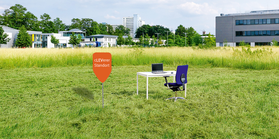 Innovationspark Leverkusen Büroschreibtisch